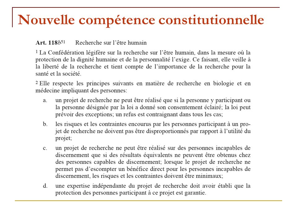 Nouvelle compétence constitutionnelle