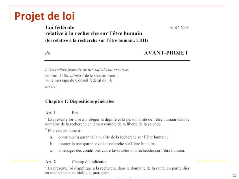 Projet de loi RNT - Leçon 10 (2.5.2011) 26 26