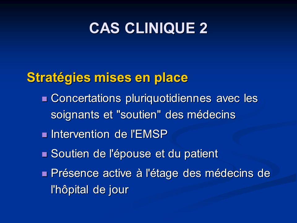 CAS CLINIQUE 2 Stratégies mises en place
