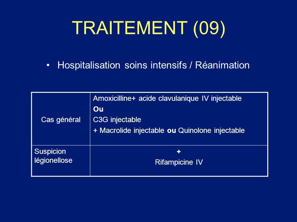 TRAITEMENT (09) Hospitalisation soins intensifs / Réanimation