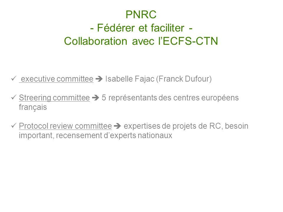 PNRC - Fédérer et faciliter - Collaboration avec l'ECFS-CTN