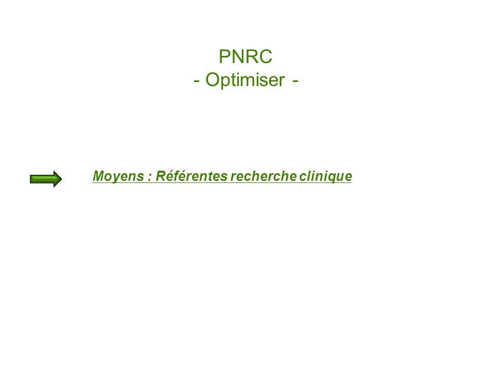 PNRC - Optimiser - Moyens : Référentes recherche clinique