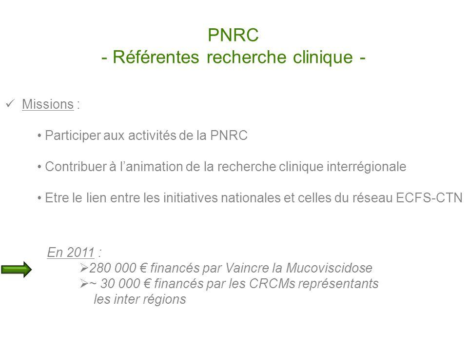 PNRC - Référentes recherche clinique -