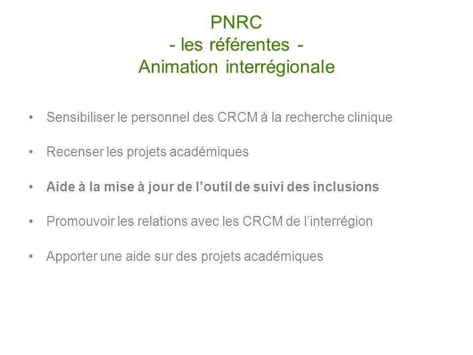 PNRC - les référentes - Animation interrégionale