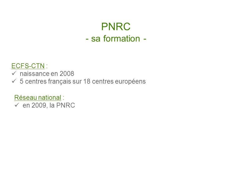 PNRC - sa formation - ECFS-CTN : naissance en 2008