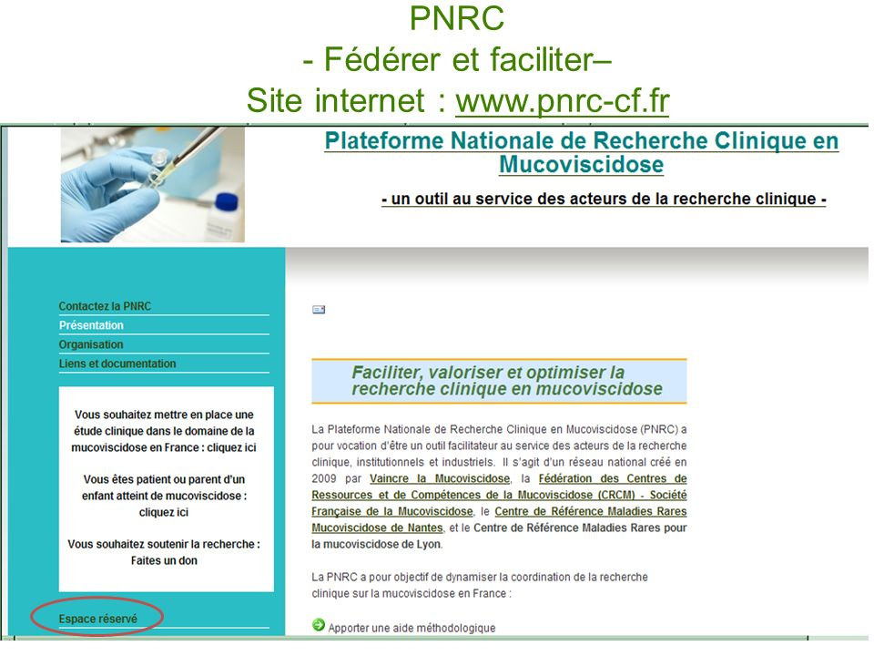 PNRC - Fédérer et faciliter– Site internet : www.pnrc-cf.fr