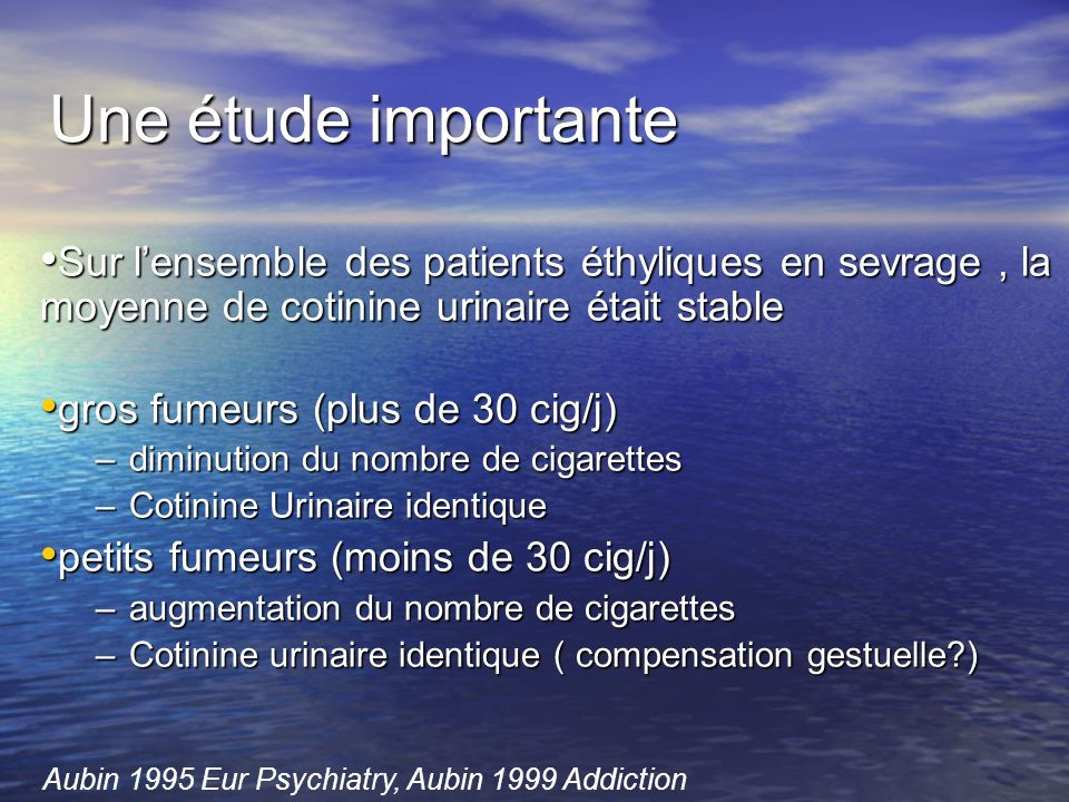 Aubin 1995 Eur Psychiatry, Aubin 1999 Addiction