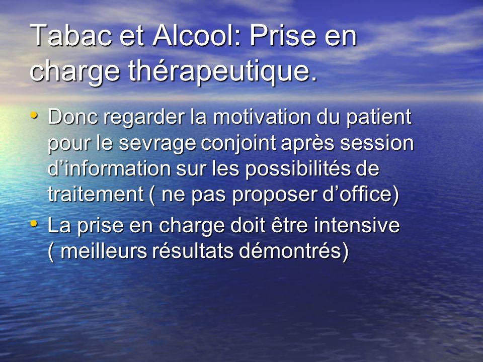 Tabac et Alcool: Prise en charge thérapeutique.
