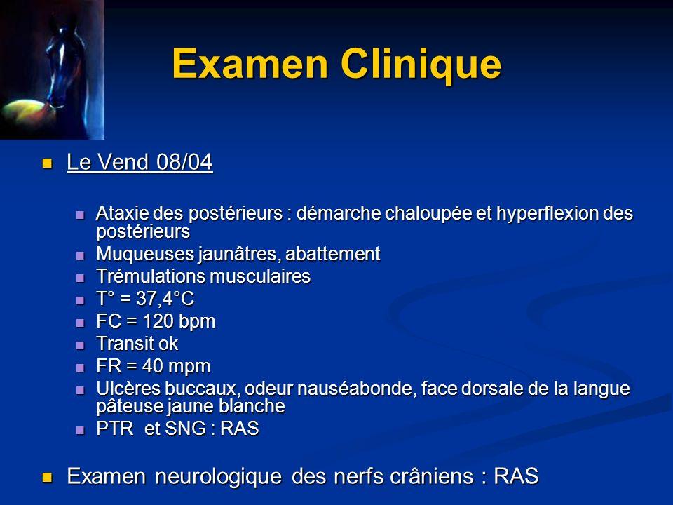 Examen Clinique Le Vend 08/04