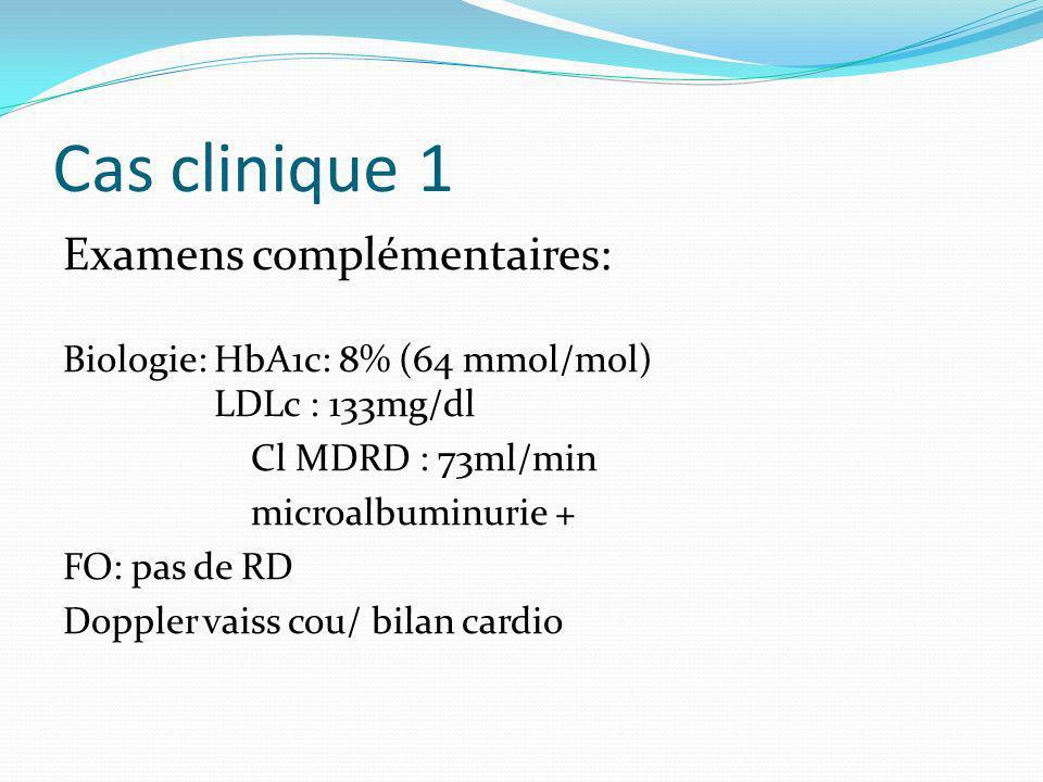 Cas clinique 1 Examens complémentaires: