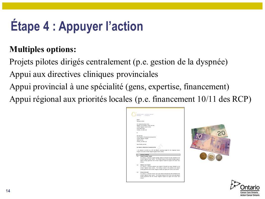 Étape 4 : Appuyer l'action