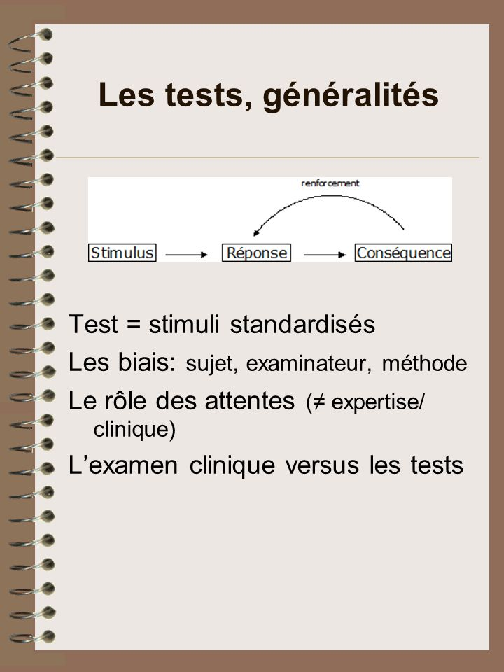 Les tests, généralités
