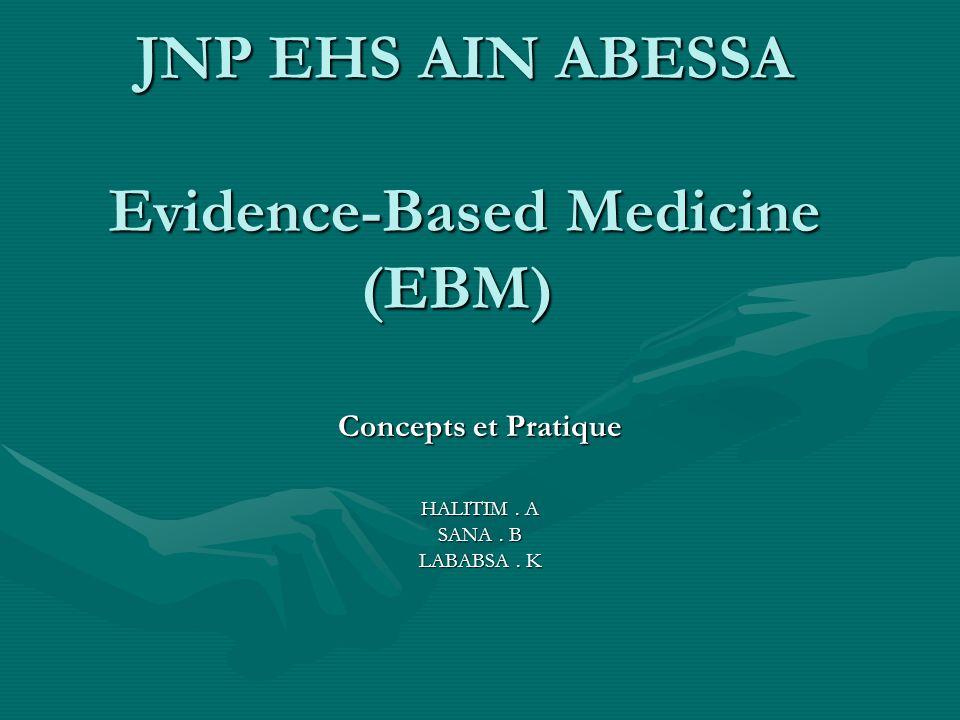JNP EHS AIN ABESSA Evidence-Based Medicine (EBM)