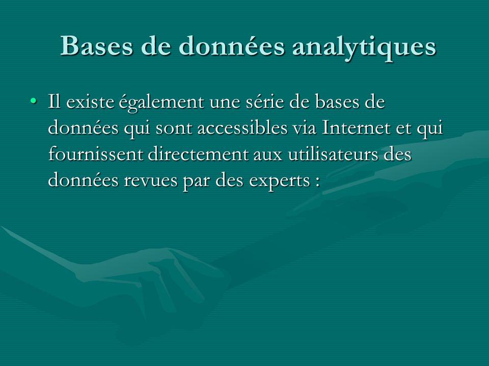 Bases de données analytiques