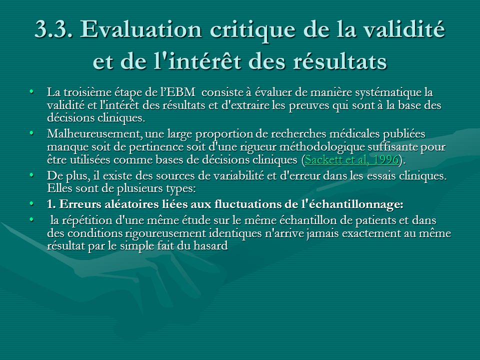 3.3. Evaluation critique de la validité et de l intérêt des résultats