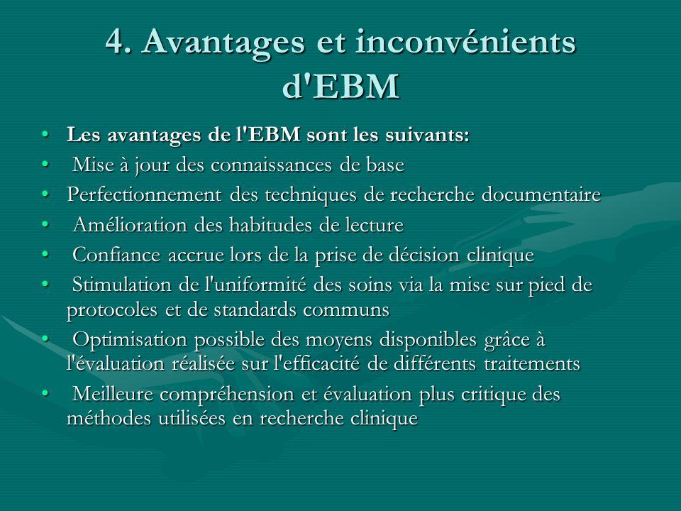 4. Avantages et inconvénients d EBM
