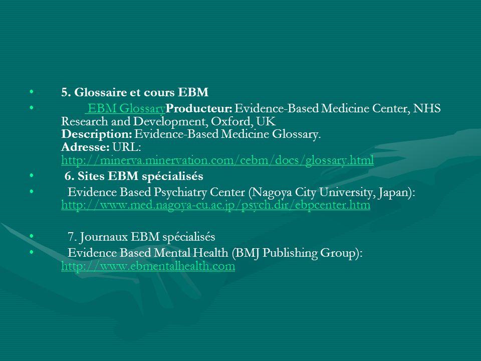 5. Glossaire et cours EBM