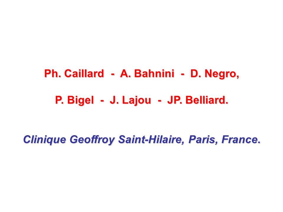 Ph. Caillard - A. Bahnini - D. Negro,