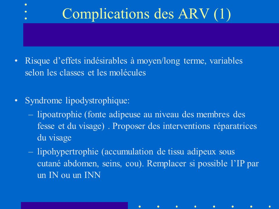Complications des ARV (1)