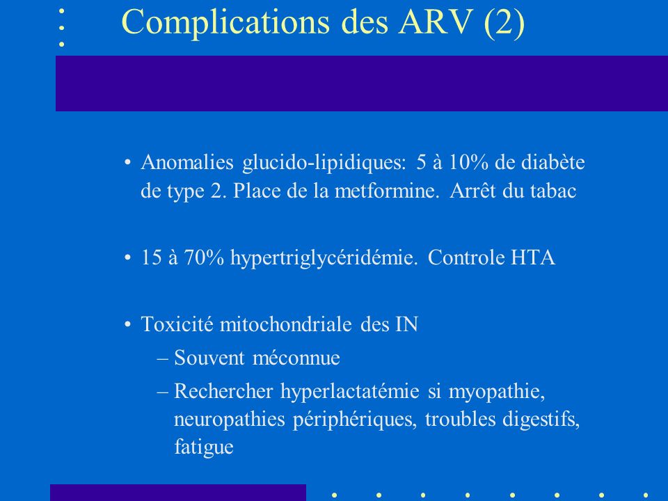 Complications des ARV (2)
