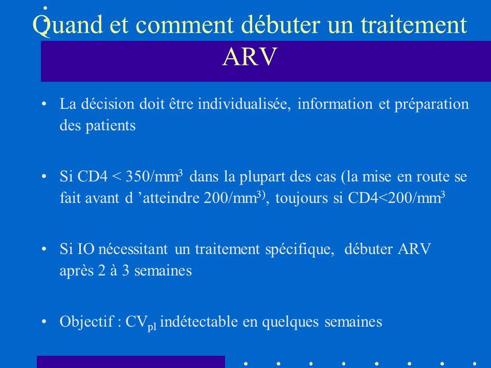 Quand et comment débuter un traitement ARV