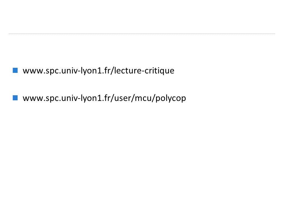 www.spc.univ-lyon1.fr/lecture-critique www.spc.univ-lyon1.fr/user/mcu/polycop