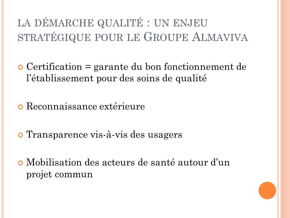 la démarche qualité : un enjeu stratégique pour le Groupe Almaviva