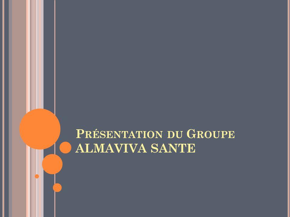 Présentation du Groupe ALMAVIVA SANTE
