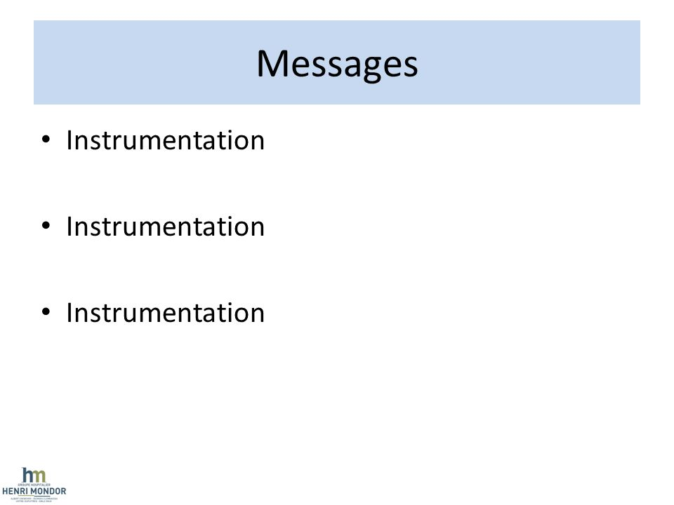 Messages Instrumentation