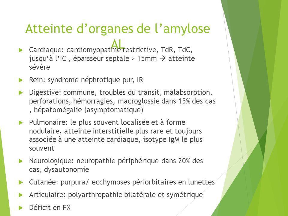 Atteinte d'organes de l'amylose AL