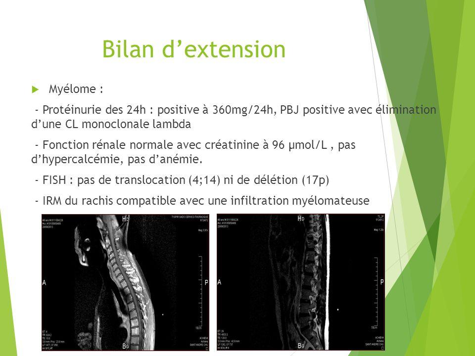 Bilan d'extension Myélome :