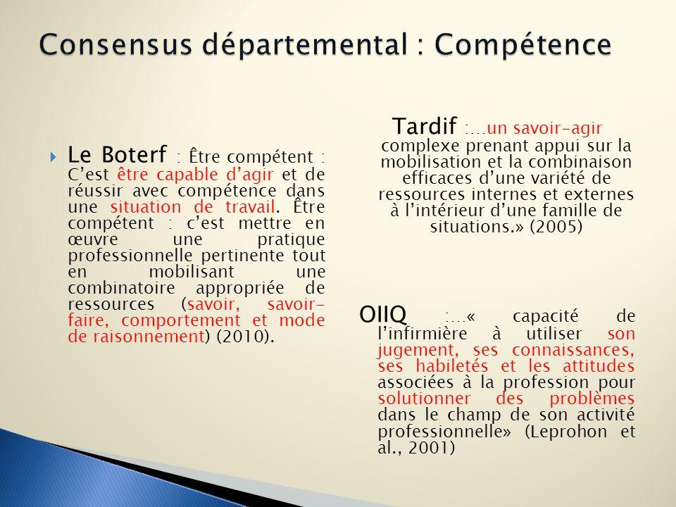 Consensus départemental : Compétence