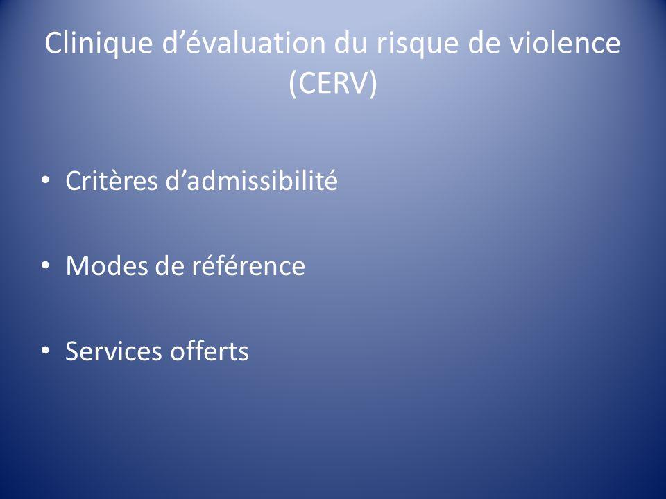 Clinique d'évaluation du risque de violence (CERV)