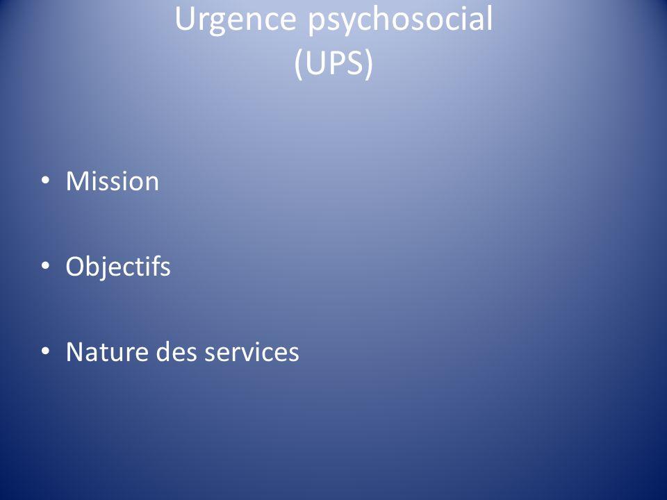 Urgence psychosocial (UPS)