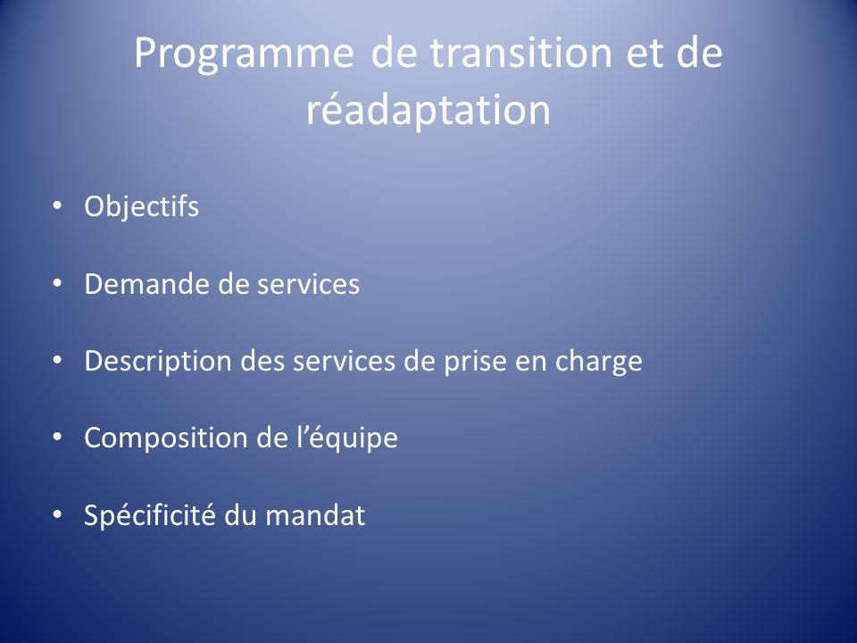 Programme de transition et de réadaptation