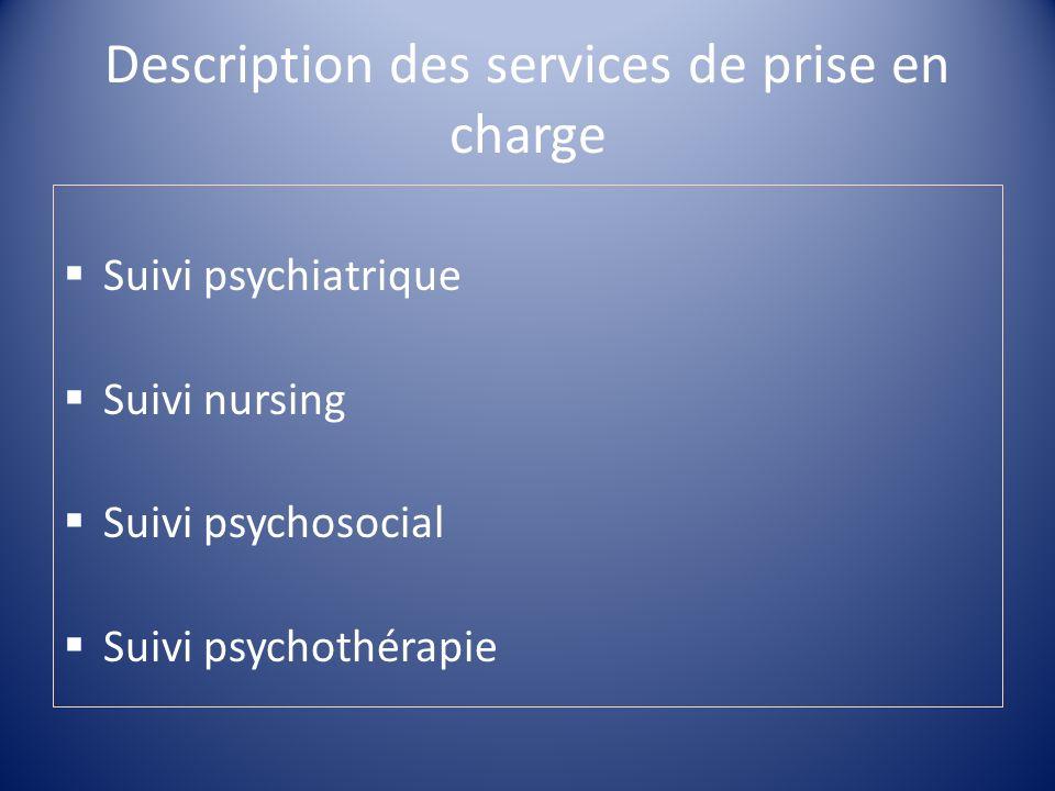 Description des services de prise en charge