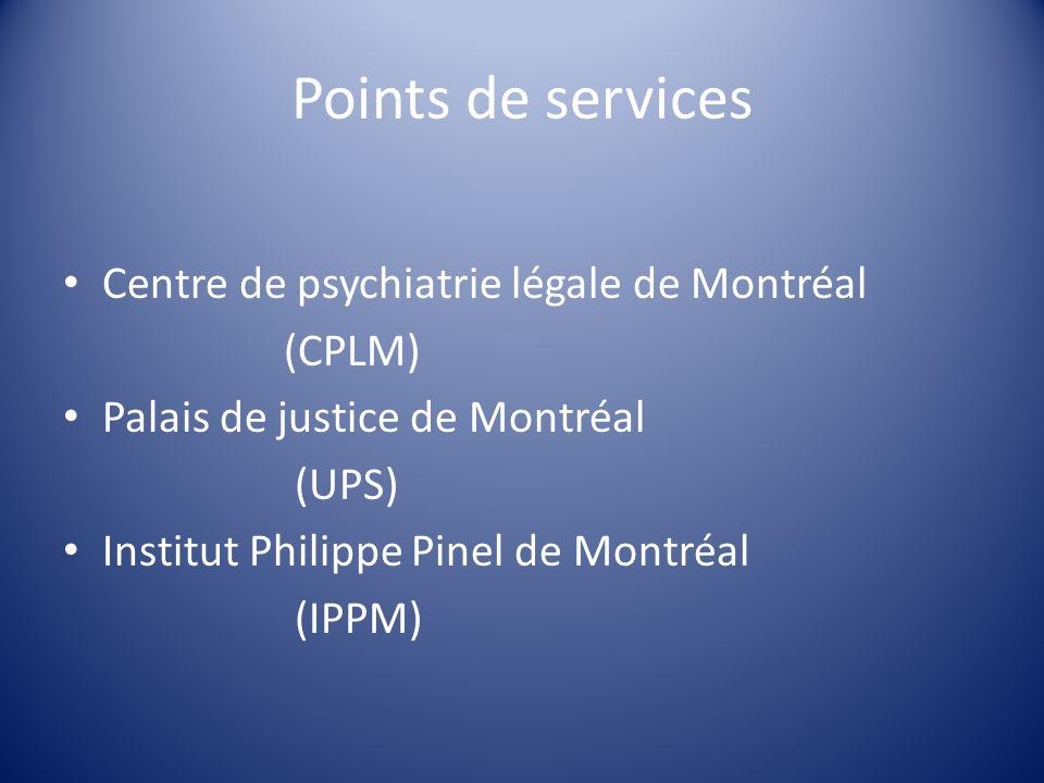 Points de services Centre de psychiatrie légale de Montréal (CPLM)