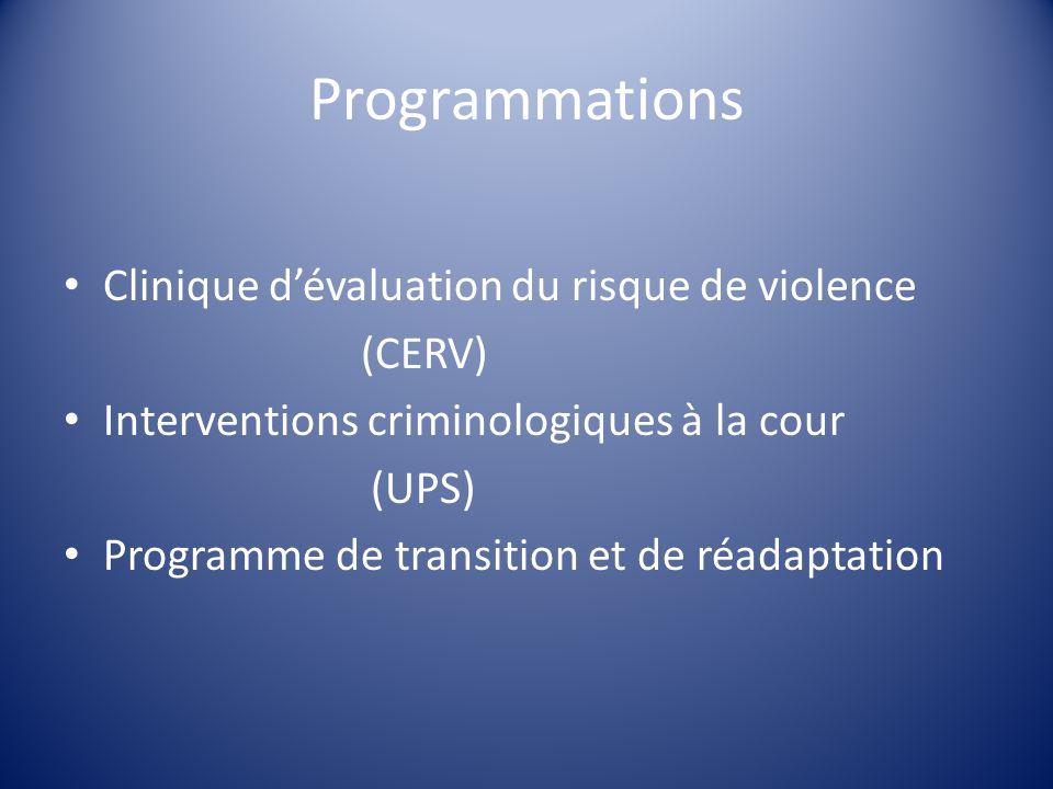 Programmations Clinique d'évaluation du risque de violence (CERV)