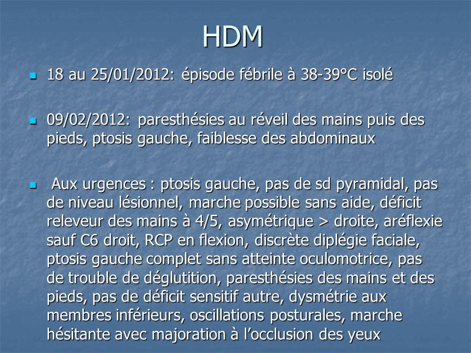 HDM 18 au 25/01/2012: épisode fébrile à 38-39°C isolé