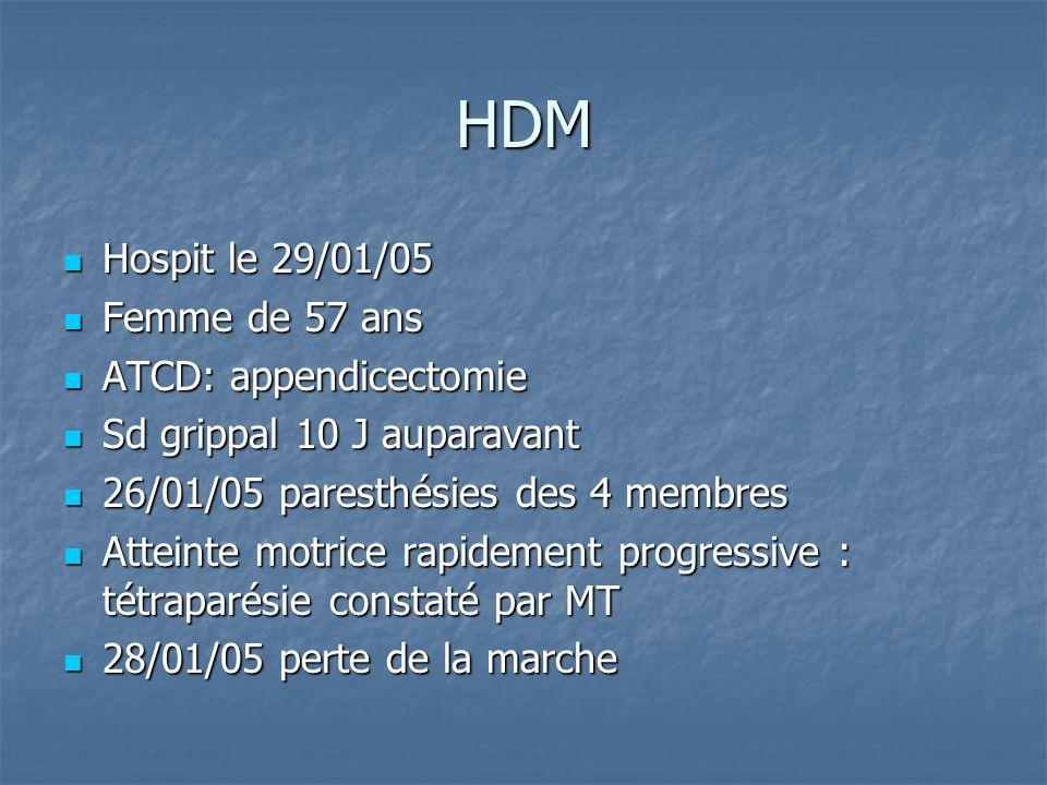 HDM Hospit le 29/01/05 Femme de 57 ans ATCD: appendicectomie