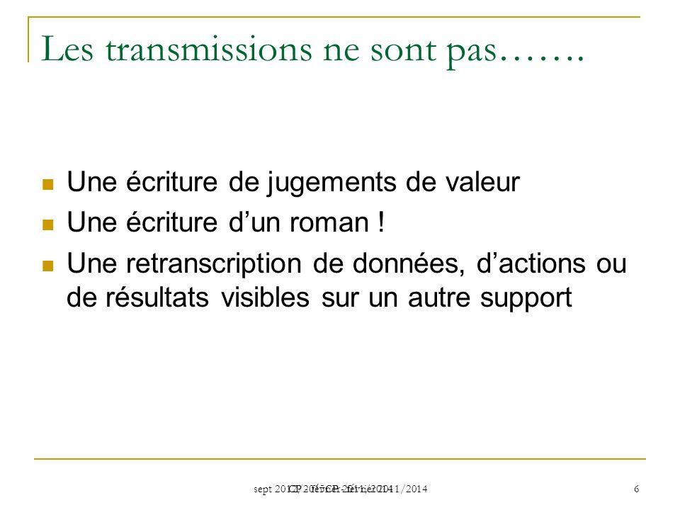 Les transmissions ne sont pas…….