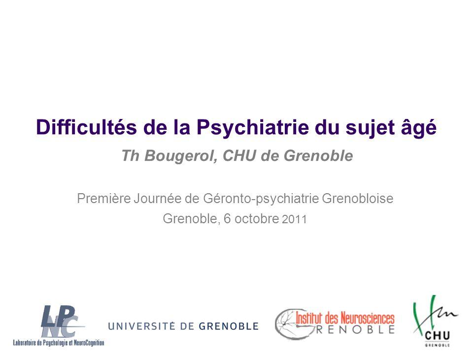 Première Journée de Géronto-psychiatrie Grenobloise
