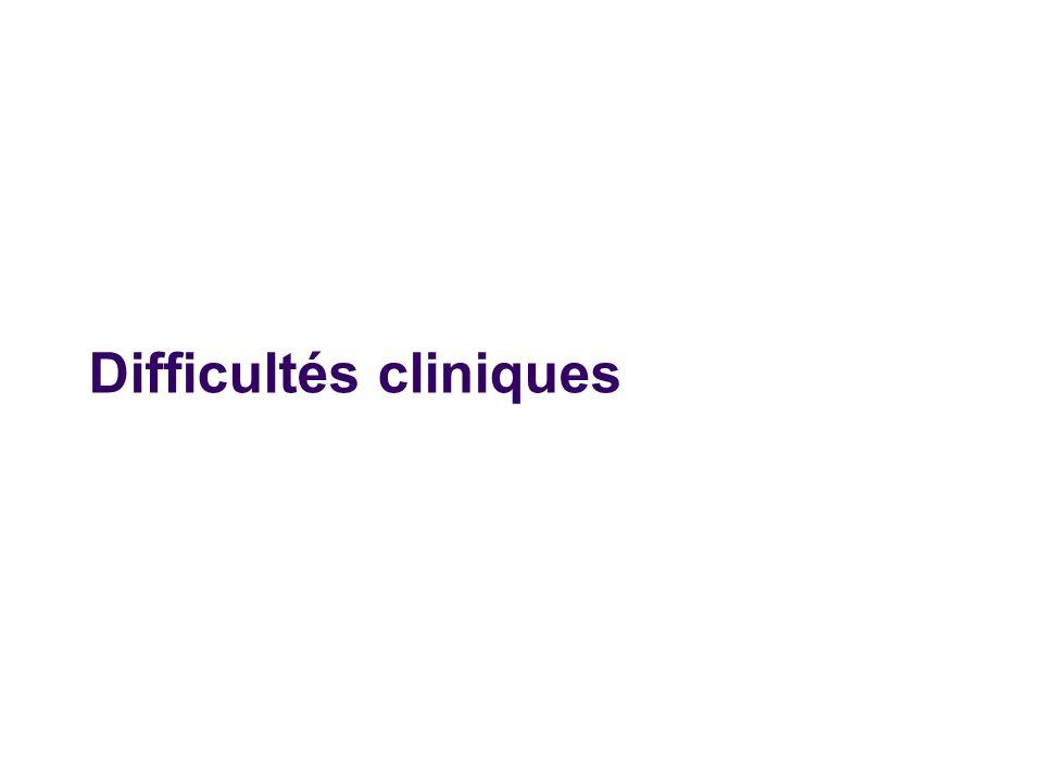 Difficultés cliniques