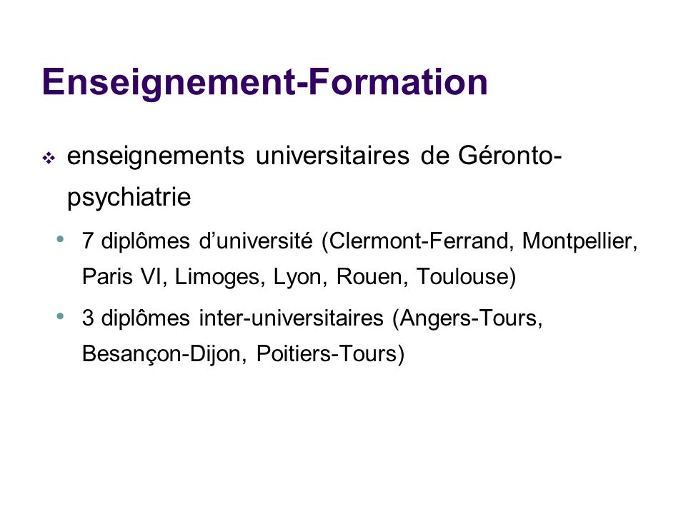 Enseignement-Formation