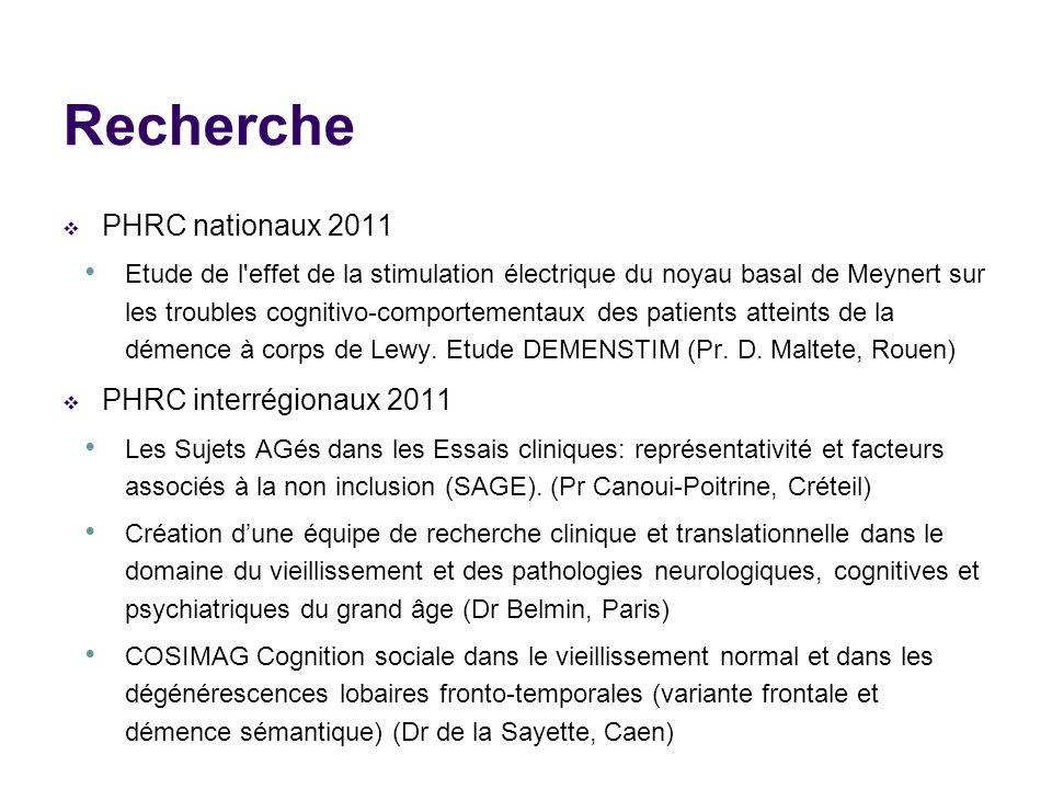 Recherche PHRC nationaux 2011 PHRC interrégionaux 2011