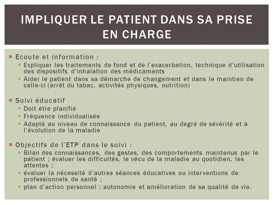 Impliquer le patient dans sa prise en charge