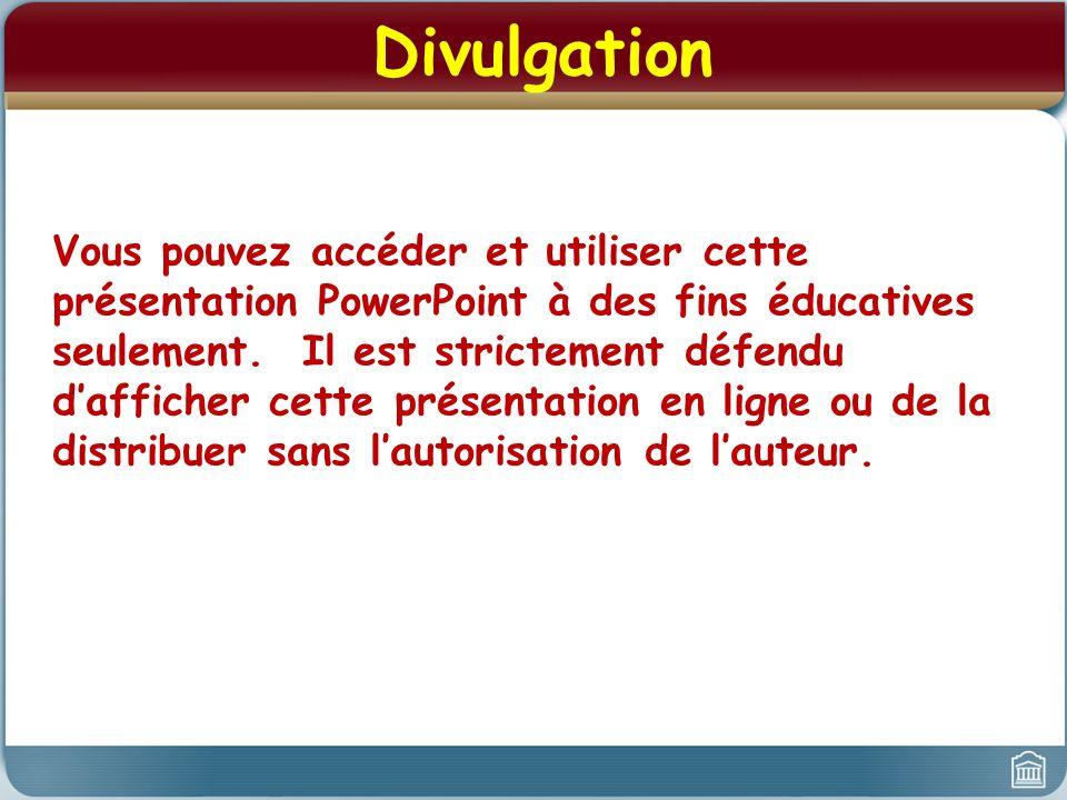 Divulgation