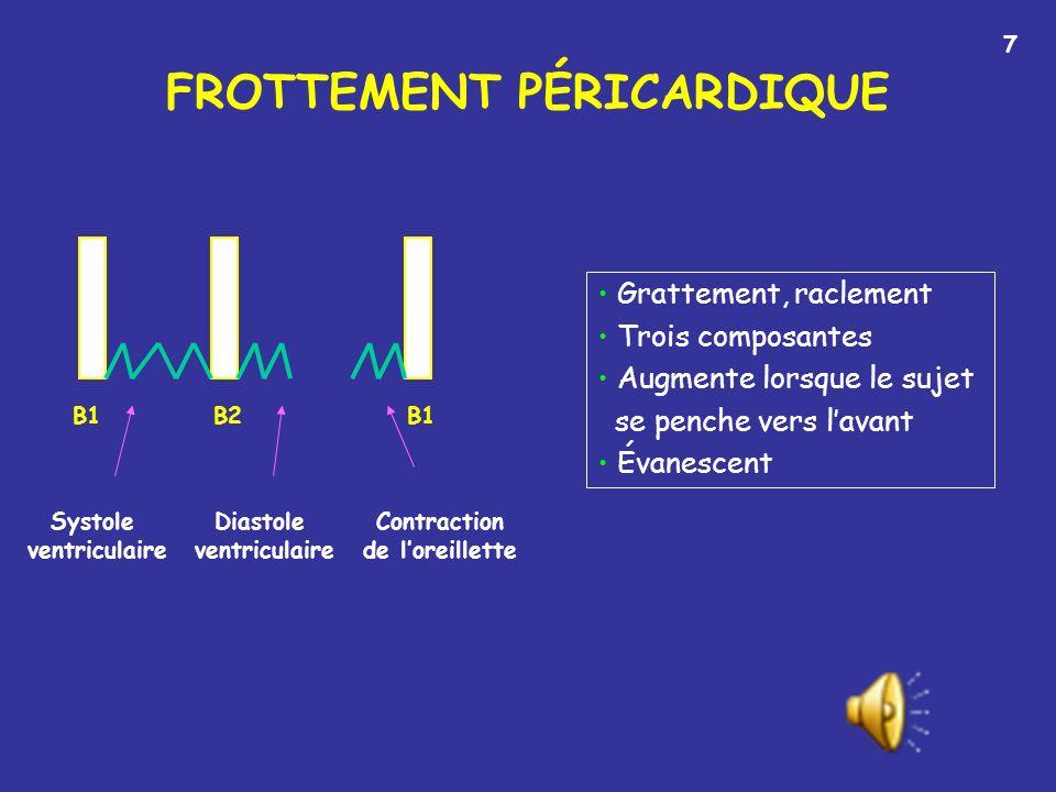 FROTTEMENT PÉRICARDIQUE