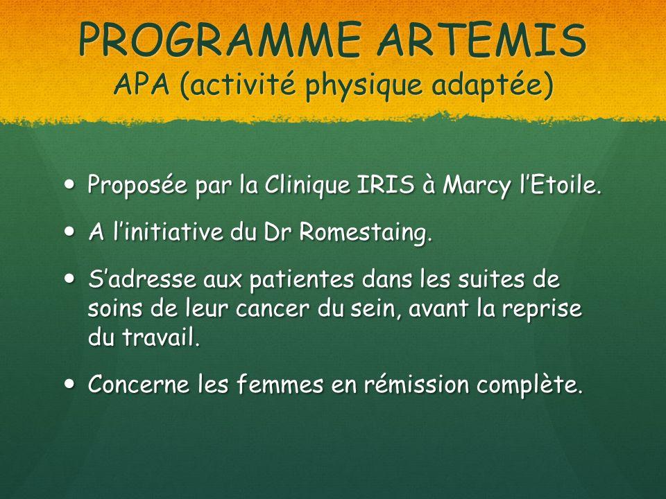 PROGRAMME ARTEMIS APA (activité physique adaptée)
