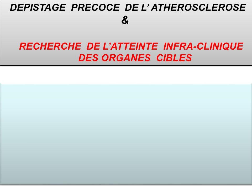 & RECHERCHE DE L'ATTEINTE INFRA-CLINIQUE DES ORGANES CIBLES